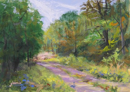 """Autumn Path"" original fine art by Jamie Williams Grossman"