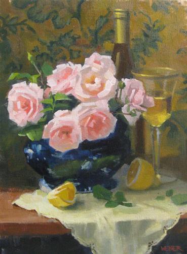 """Hints of lemon"" original fine art by Kathy Weber"