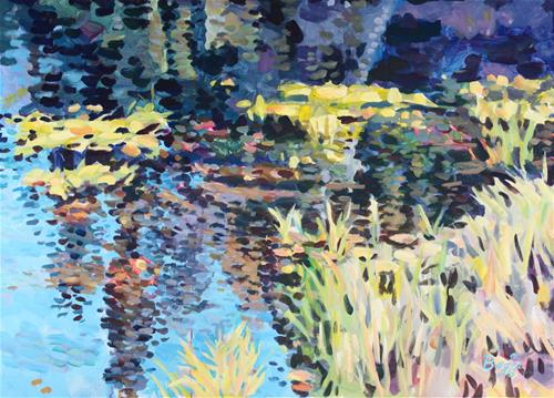 """The Pond"" original fine art by Elbagir Osman"