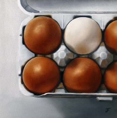 """Egg Study - Odd Man Out"" original fine art by Jelaine Faunce"