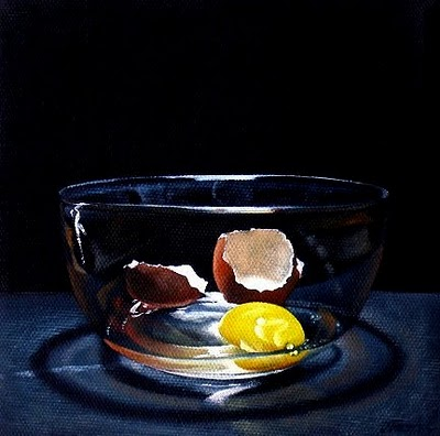 """Cracked Egg"" original fine art by Jelaine Faunce"