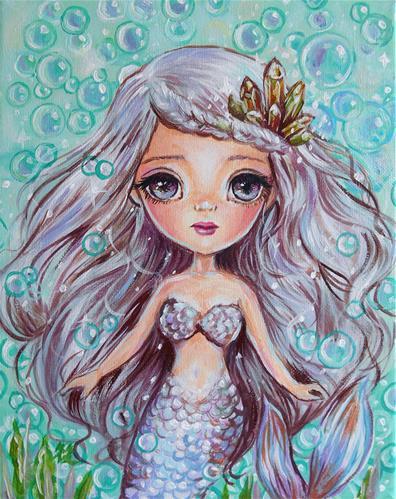 """Mermaid"" original fine art by Nicole Chen"