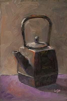 """Square Teapot"" original fine art by Raymond Logan"