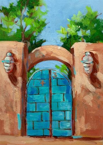 """Santa Fe #2"" original fine art by Suzy 'Pal' Powell"