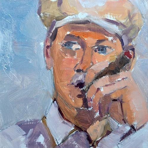 """""""Smoke Break"""" original fine art by Andrew Daniel"""