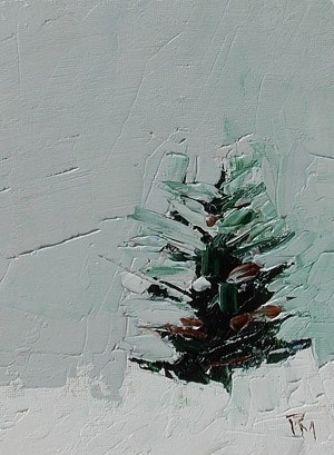 """Xmas Tree II"" original fine art by Pamela Munger"