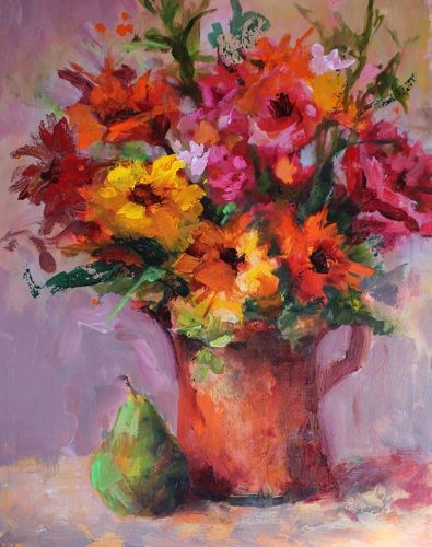 """Spring Fling Floral Still Life by Arizona Artist Amy Whitehouse"" original fine art by Amy Whitehouse"