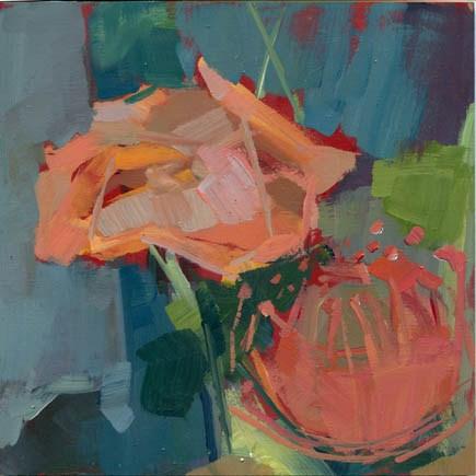 """""""1176 Squishy Rose, Fluffy Orb"""" original fine art by Lisa Daria"""