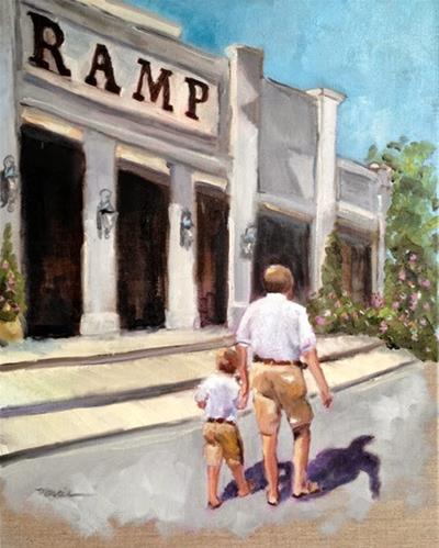 """William and PePaw"" original fine art by Marcia Hodges"