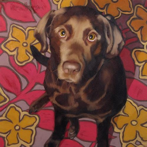 """Simone  a recent custom commissioned pet portrait"" original fine art by Diane Hoeptner"