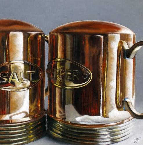 """Study: Salt & Pepper"" original fine art by Jelaine Faunce"