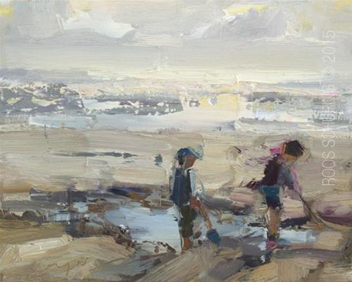"""""""Seascape Pleinair """"Best Days"""""""" original fine art by Roos Schuring"""