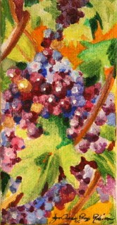 """Grapes, for Mommy Juice"" original fine art by JoAnne Perez Robinson"