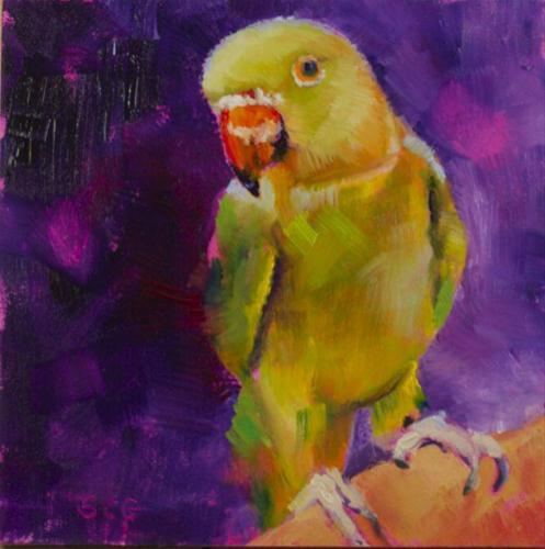 """Are You Looking at Me?"" original fine art by Sue Churchgrant"