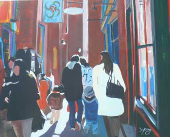"""Fan Tan Alley"" original fine art by Darlene Young"