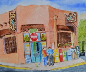 """Brunch in Santa Fe"" original fine art by Robert Frankis"
