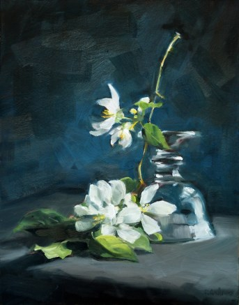 """Oil Painting: Pale Blossoms"" original fine art by Deb Anderson"