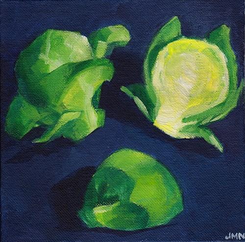 """Trio Of Sprouts"" original fine art by J M Needham"