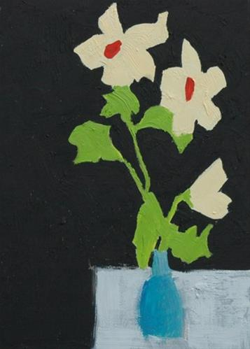 """FLOWERS No. 3"" original fine art by Linda Popple"