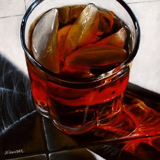 """Iced Tea #5"" original fine art by Jelaine Faunce"