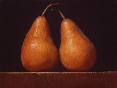 """Still Life with Bosc Pears"" original fine art by Abbey Ryan"