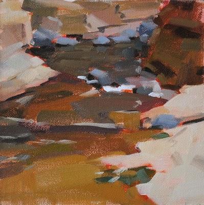 """Slide Rock"" original fine art by Carol Marine"