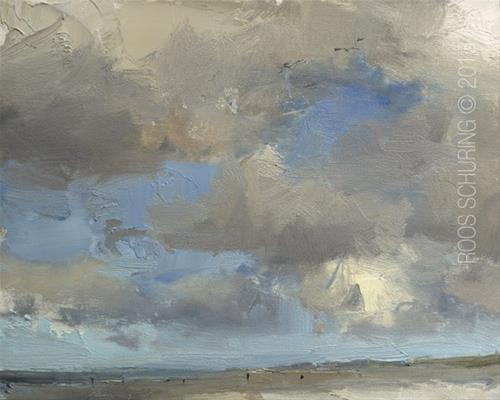 """Painting Clouds Seascape ""Sky and Clouds"""" original fine art by Roos Schuring"