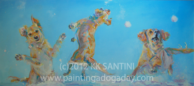 """Snow Much Fun"" original fine art by Kimberly Santini"