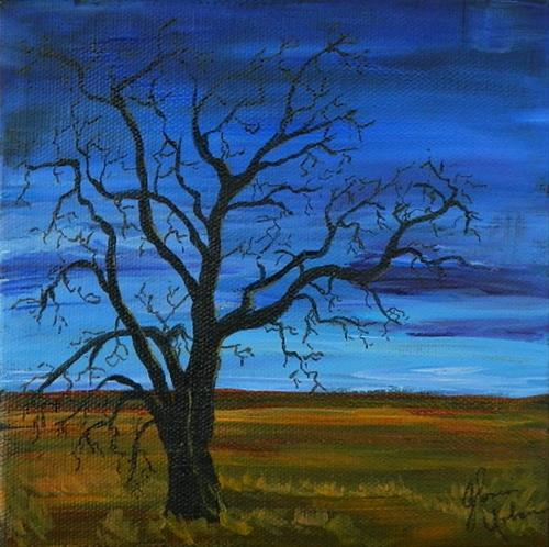 """Tree in field"" original fine art by Gloria Urban"