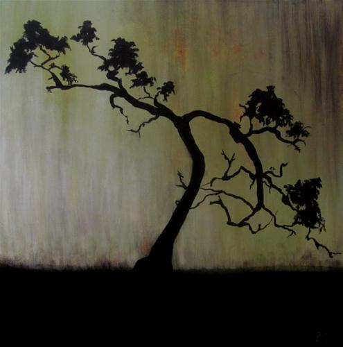 """Bonsai"" original fine art by ~ces~ Christine E. S. Code"