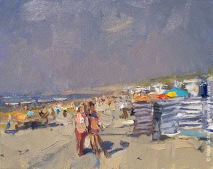 """SSU10 ""People define a Summer beach"" (available)"" original fine art by Roos Schuring"