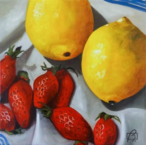 """Lemons & Strawberries"" original fine art by Andre Beaulieu"