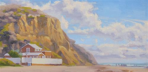 """""""A Day at Crystal Cove"""" original fine art by John White"""