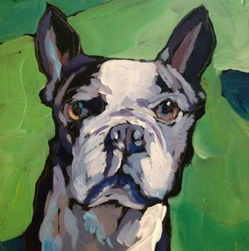 """Throw to ME!"" original fine art by Kat Corrigan"