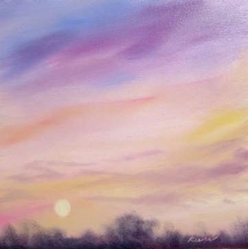 """Pink Joie"" original fine art by Carol Keene"