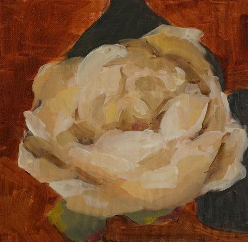 """Peony Blossom"" original fine art by Catherine Van Berg"