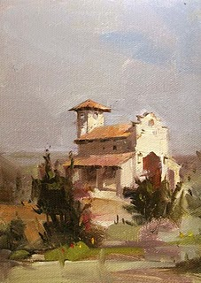 """Chapel Dulcinea --- Sold"" original fine art by Qiang Huang"
