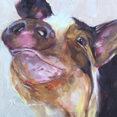 """Pig"" original fine art by Gigi De"