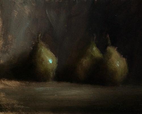 """Three Pears"" original fine art by Neil Carroll"