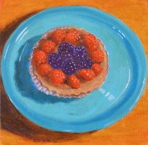 """A Berry Tasty Tart"" original fine art by Robert Frankis"