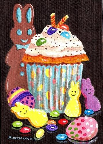 """Just Another Easter Cupcake"" original fine art by Patricia Ann Rizzo"