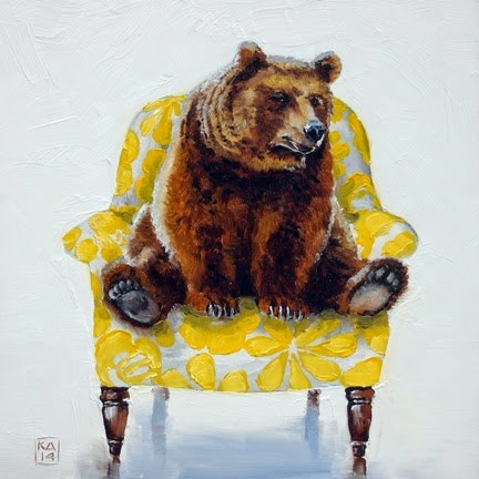 """lover bear"" original fine art by Kimberly Applegate"