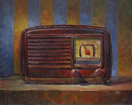 """""""Motorola Aero Vane Radio"""" original fine art by Raymond Logan"""