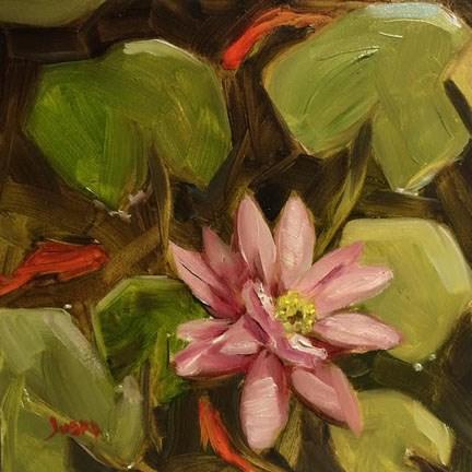 """""""Pink Water Lily"""" original fine art by Elaine Juska Joseph"""