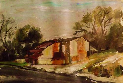 """Landscape。M21"" original fine art by Run-      Zhang Zane"