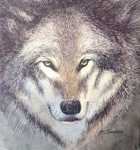 """Intense"" original fine art by Mark Tompkins"