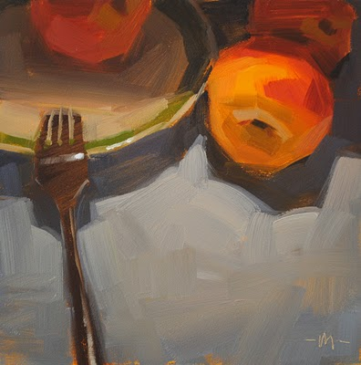 """Napping Fork"" original fine art by Carol Marine"