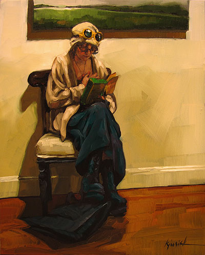 """Page Turner"" original fine art by Karin Jurick"