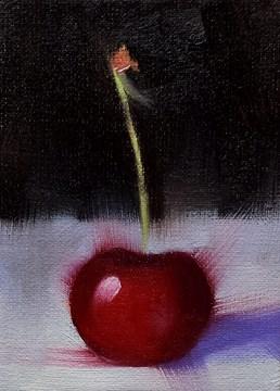 """""""Dark Cherry"""" original fine art by Cindy Haase"""