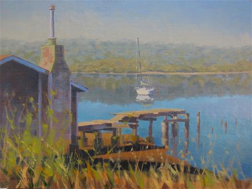 """""""Bodega Bay Morning"""" original fine art by John White"""